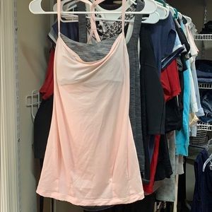 Lululemon workout top tank with built in bra